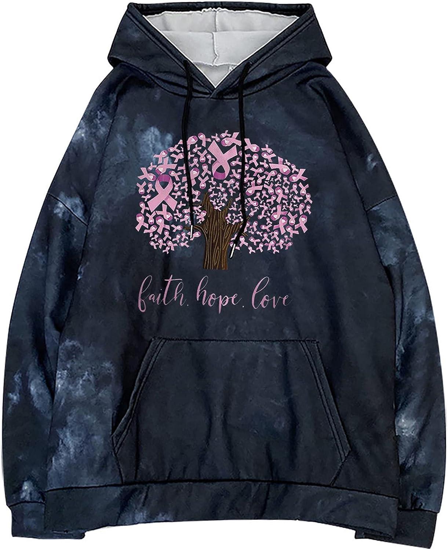 INESVER Womens Fashion Graphic Hoodies Tree Printed Long Sleeve Sweatshirt with Pocket Autumn Pullovers