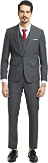 Nitree Men Suits Slim Fit 3 Piece One Button Suit Blazer Tux Vest & Trousers Tuxedo