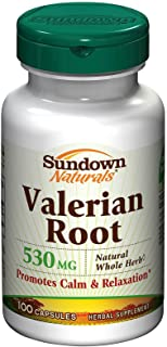 Sundown Valerian Root Whole Herb 530 mg Caps, 100 ct