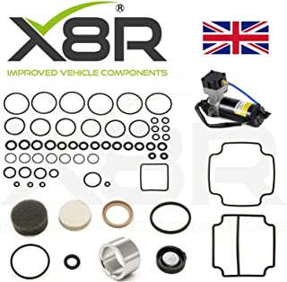 X8R BRAND REPLACEMENT FOR LAND ROVER RANGE ROVER CLASSIC/RANGE ROVER P38 / MANY CITROEN & LDV MODELS AIR COMPRESSOR SEAL LINER VALVE BLOCK O RING REBUILD RESTORE KIT PART: X8R38