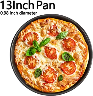 13 inch Pizza Pan Deep Dish Hard Coating Microwave Crispers Commercial Grade Kitchen Baking Tray Round Cake Baking Pans