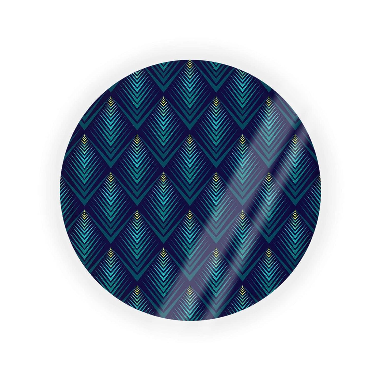 Powder Container Arlington Mall Air Cushion Milwaukee Mall Box Teal Zigzag Edge Blue Pattern