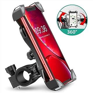 Cocoda Soporte Movil Bici, 360° Rotación Soporte Movil Moto Bicicleta, Anti Vibración Porta Telefono Motocicleta Montaña para iPhone 11 Pro Max/XS Max/XR, Samsung S10/S9 y Otro 4.5-7.0