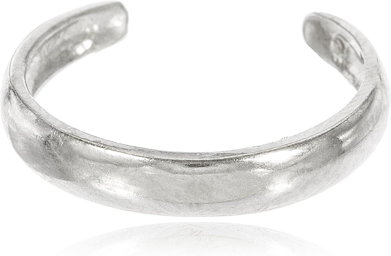 JOTW 10k White Gold Simple Toe Ring (GO-545)