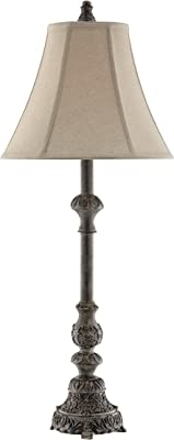 "Stein World 99799 Adella Resin Table Lamp, 13"" x 13"" x 32"", Weathered Grey"