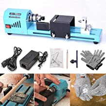 FOONEE DIY Portable Woodworking Mini Lathe Drill & HPPE 5 Level Cut Resistant Gloves,..