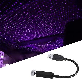 Auto Roof Star Light, Car USB Star Decoration Atmosphere Light, Led Projector Ambient Night Lamp Adjustable Portable USB I...