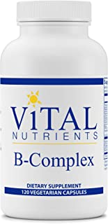 Vital Nutrients - B-Complex - Balanced High Potency B Vitamin Complex - Supports Energy Production, Metabolism and Heart Health - 120 Vegetarian Capsules per Bottle