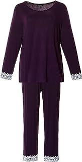 Ulla Popken Pyjama, Plussize Juego de Pijama para Mujer