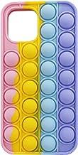 قاب گوشی Moreup Pop It برای آیفون 12 11Pro Max | Push Pop Bubble Fidget Toys پوسته محافظ تلفن همراه (رنگین کمان ، برای آیفون 6/7/8)