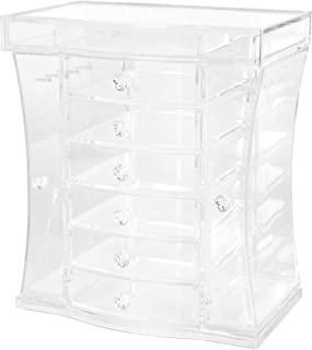 Richards Homewares Extra Large Jewelry Organizer with Side Doors and Top Lid