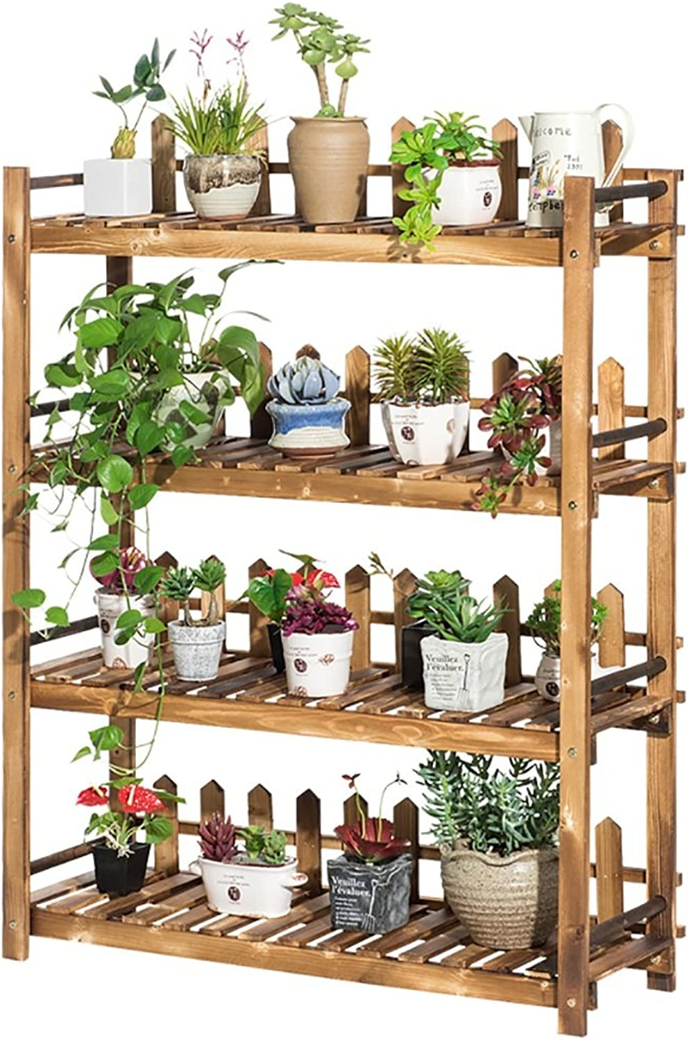 Plant Storage Rack Solid Wood Plant Frame Flower Ladder, Multi-Layer Flower Stand, Multi-Layer Garden Display Stand Floor Stand (Size   90  30  110)