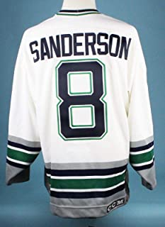 72086923dc8 The Finest Geoff Sanderson Game Worn Hartford Whalers Jersey MEARS COA A10  - Game Used NHL