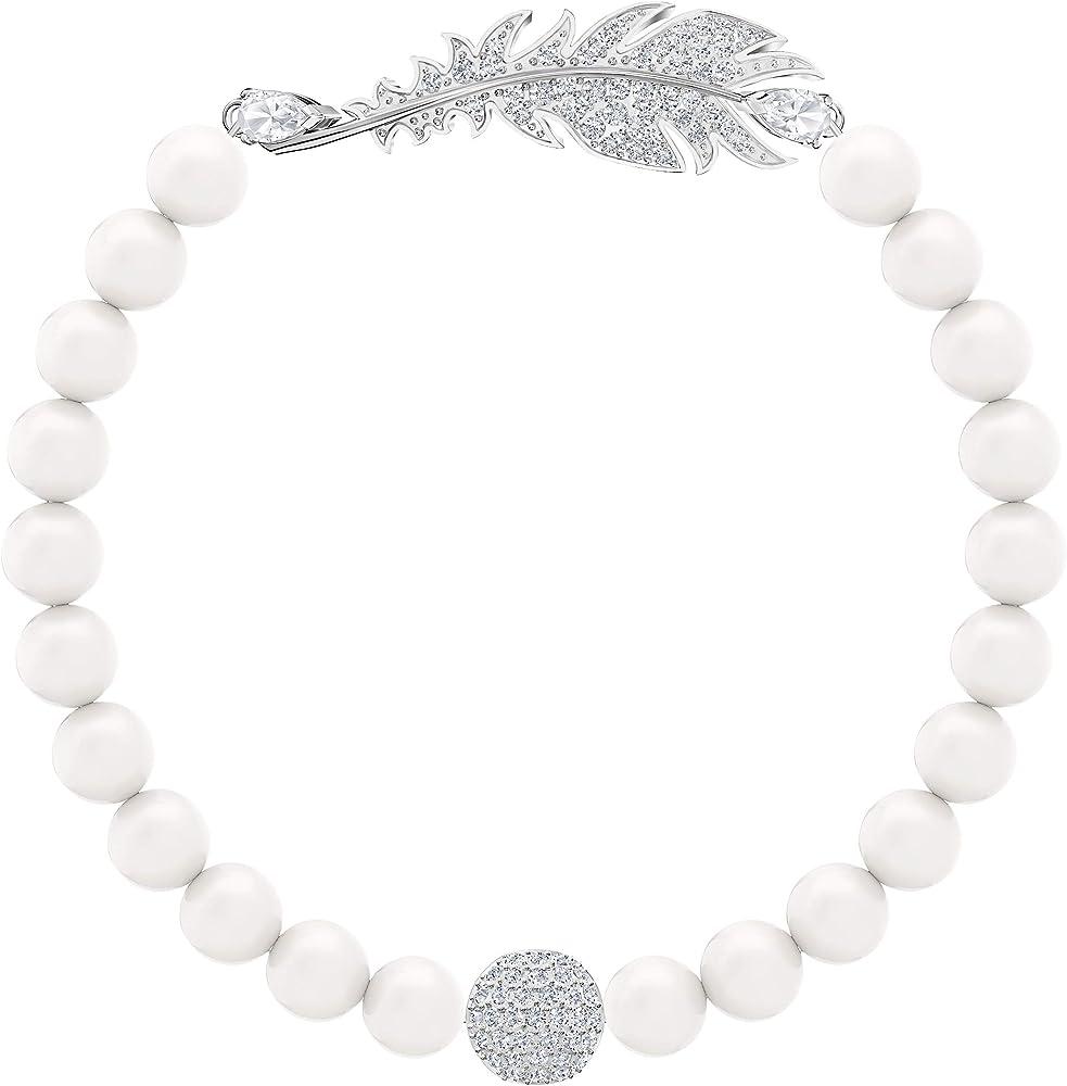 Swarovski Braccialetto nice pearl placcatura rodio 5515020