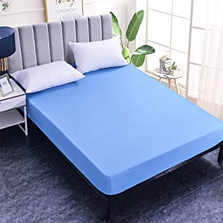SETWIER Noiseless and Durable Bed Cover Fitted Queen Size Mattress Protector Microfiber Bedding Fitted Sheet 60