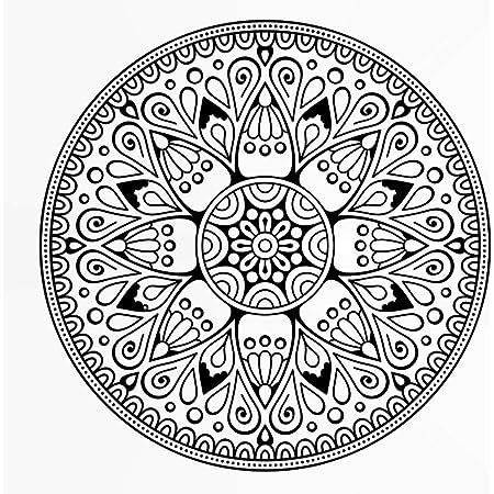 blanco Plantilla reutilizable de PVC para decoraci/ón de pared//M3 A5 y m/ás grande 140 x 140 cm Plantilla reutilizable con dise/ño de mandala redondo tama/ño A3 L size A4 55.1 x 55.1 in
