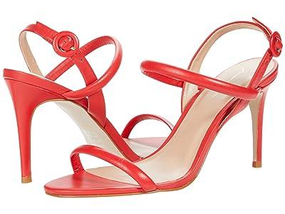 Massimo Matteo Evening Leather Sandal (Vermelho) Women