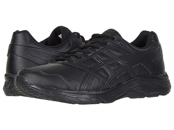 ASICS  GEL-Contend 5 Walker (Black/Black) Mens Running Shoes