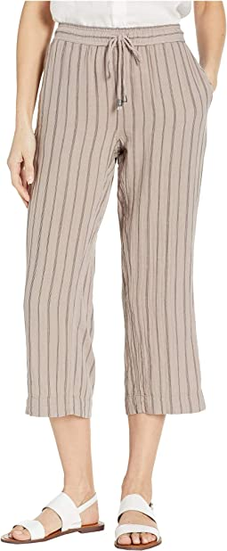 Soft and Light Double Gauze Stripe Crop Pants