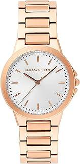 Rebecca Minkoff Women's Quartz Watch with Stainless Steel Strap, Rose Gold, 18 (Model: 2200305)
