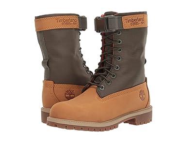 Timberland Kids 6 Premium Gaiter Boot (Big Kid) (Wheat Nubuck) Kids Shoes