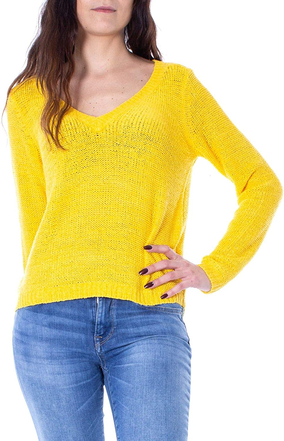 Only Women's 15175267YELLOW Yellow Acrylic Jumper