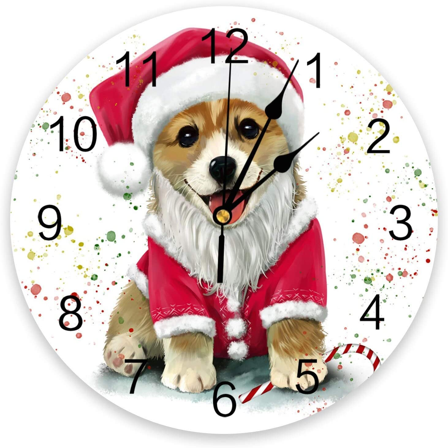 SEAL limited product Louisville-Jefferson County Mall Non-Ticking Wall Clock Silent Round Battery Operated