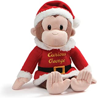 GUND Curious George Holiday Santa Suit Stuffed Animal Christmas Plush, Multicolor, 12""