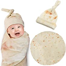 zxtrby Burrito Swaddle Blanket,Original Tortilla Swaddle Blanket with Hat .Newborn Receiving Blanket Headband Set - Unisex Soft Baby/Kids Swaddle Girl Boy Gifts (Round, 35Inch – 3ft)