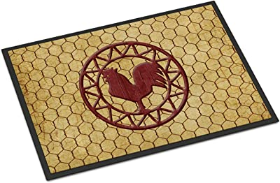 "Caroline's Treasures Rooster Chicken Coop Indoor or Outdoor Mat, Multicolor, 18"" x 27"""