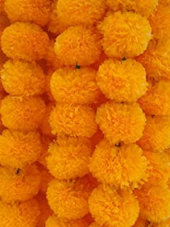 Best artificial marigold garlands india Reviews