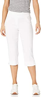 RUBY RD. womens Petite Size Pull-on Solar Millennium Tech Cropped Capri Pants