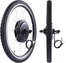 """LAZYMOON 26"""" Rear Wheel 48V 1000W Electric Powered Bicycle Motor Cycling Conversion Kit"""