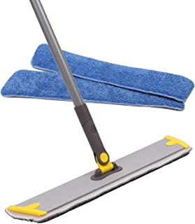 Professional Microfiber Mop - 1 Reusable Mop Pad Included, Wet/Dry Dust Mop for Hardwood Floor,Laminate and Tile Floor, Room and Kitchen Cleaning (Yellow)