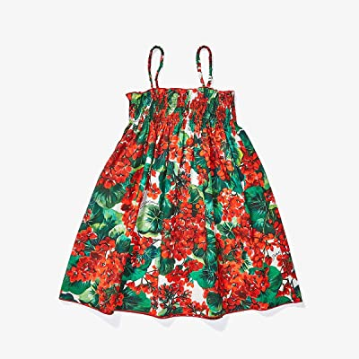 Dolce & Gabbana Kids Portofino Print Poplin Sundress (Toddler/Little Kids) (Geranium Print) Girl