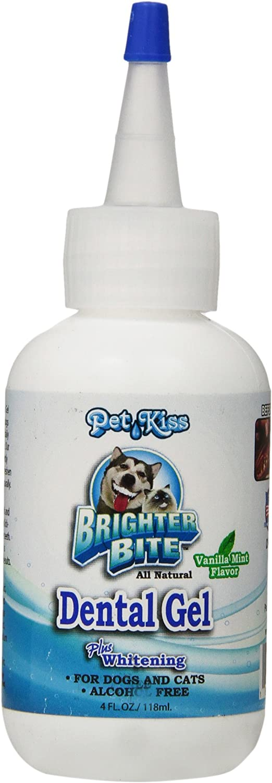 Pet Kiss Brighter Bite Dental Gel for Pets, 4Ounce