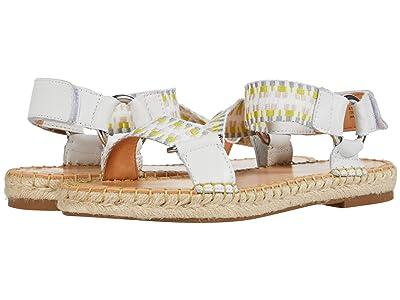 FRYE AND CO. Kole Asymmetrical Sandal (Lime Multi Tumbled Buffalo/Multi Zig Webbing) Women