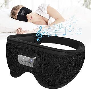 Blackout Sleep Eye Mask - 3D Blindfold Eyemask with 20 Soothing White Noise Sounds Machine Perfect Shading Blackout Timing...