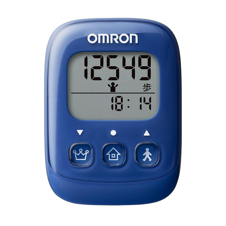生態学奨励読みやすいオムロン(OMRON) 歩数計 ブルー HJ-325-B