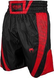 Venum Men's Elite Boxing Shorts - Black/Red-S, Black/red, S