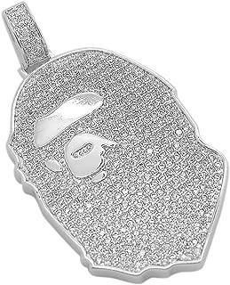 iced out bape pendant