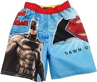 e59d047283 DC Comics Batman Vs Superman Boys Dawn Of Justice Swim Trunks Blue