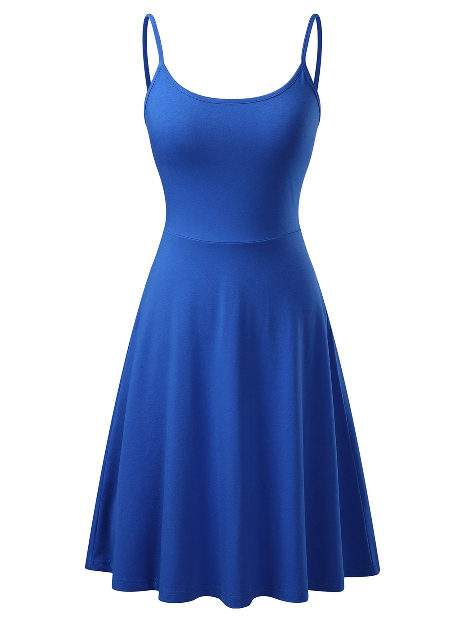 Available at Amazon: VETIOR Women's Sleeveless Adjustable Strappy Flared Midi Skater Dress