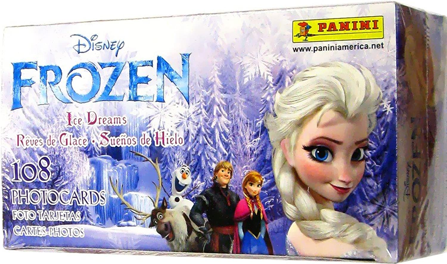 Disney Frozen Ice Dreams 4x6 inch Photocards Box of 24 Unopened Packs, Panini