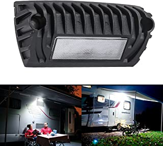 SUPAREE LED RV Exterior Porch Utility Light - Black 12V 750 Lumen Lighting Fixture Kit for RVs Trailers Campers