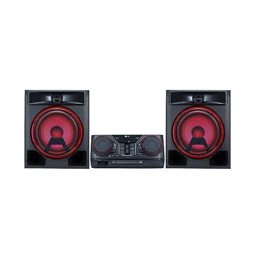 LG CK56 - Equipo de Sonido de Alta Potencia (700 W, Bluetooth, USB Dual, Karaoke, Iluminación LED, CD, Entrada de Micro, FM) Color Negro