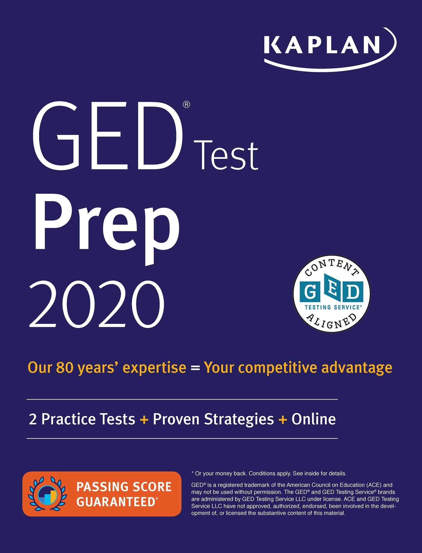 Download GED Test Prep 2020: 2 Practice Tests + Proven Strategies + Online (Kaplan Test Prep) 