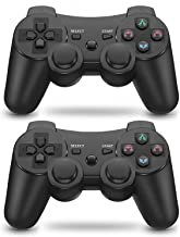 PS3 Controller 2 Pack Wireless Dual Shock High Performance Gaming Controller for Sony Playstation 3 with Charging Cord