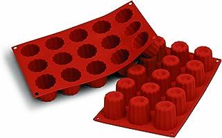 Silikomart 20.059.00.0060 SF059 Moule Forme Bordelaise 15 Cavités Silicone Terre Cuite