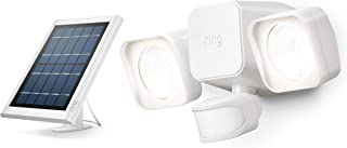 Ring Solar Floodlight -- Outdoor Motion-Sensor Security Light, White (Bridge required)